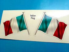 Italiano Italia Bandera & Polo Motocicleta Coche Bumper Stickers Calcomanías 2 Off 60mm