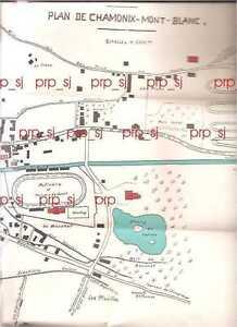 Chamonix Cartina Geografica.Dettagli Su Chamonix Mont Blanc Plan Pianta Mappa Carta 1930 Monte Bianco
