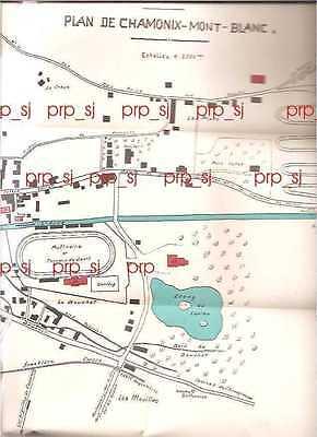 Chamonix Cartina Geografica.Chamonix Mont Blanc Plan Pianta Mappa Carta 1930 Monte Bianco Ebay