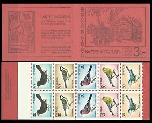 Suede-Sweden-Oiseaux-Merle-Mesange-Bouvreuil-Blackbird-Tit-Amsel-Vogel-1970