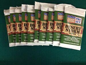 1991 Desert Storm Pro Set Trading Cards,Desert Storm Cards,Sealed Pack,10 Cards