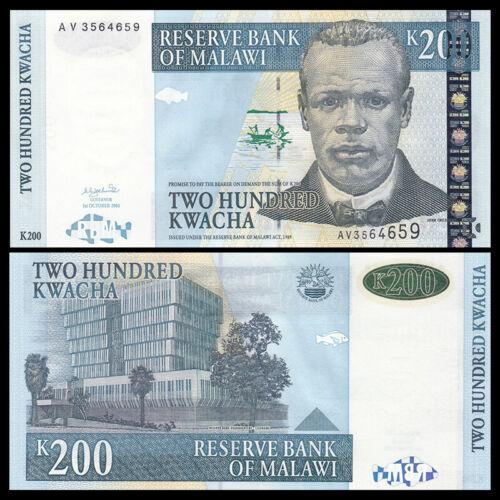 UNC Banknotes Malawi 200 Kwacha P-47 2003