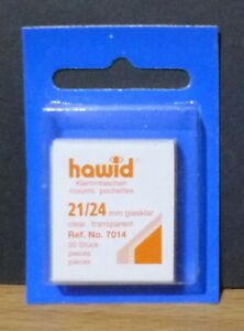 HAWID-STAMP-MOUNTS-CLEAR-Pack-of-50-Individual-21mm-x-24mm-Ref-No-7014