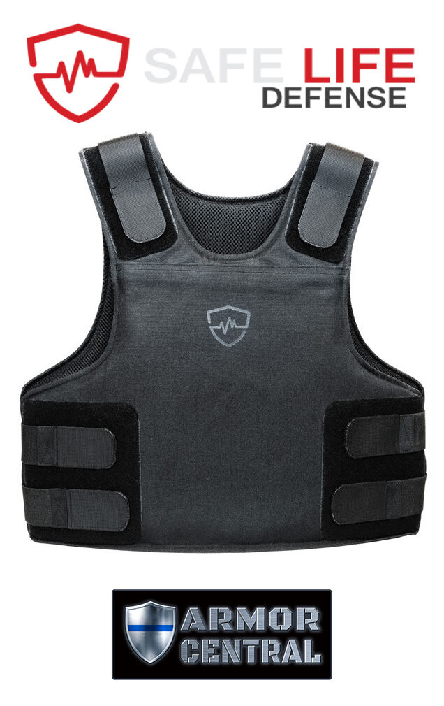 Safe Life Defense Level IIIA Body Armor Multi-Threat Bullet Proof Vest - SMALL