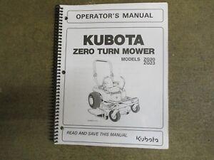 kubota zg20 zg23 zg 20 23 ztr mower owners maintenance manual ebay rh ebay com Kubota ZG20 Problems Kubota ZG23 Parts Manual