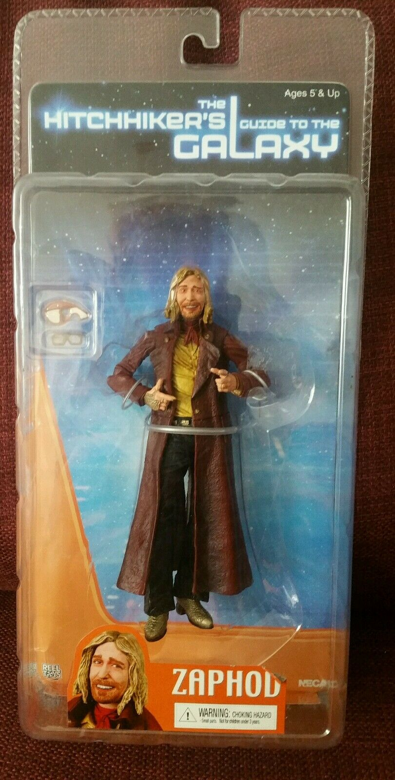 The Hitchhikers Guide to the Galaxy Action Figure Zaphod MOC BNISB