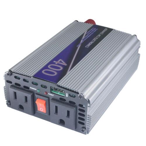800watt 12v DC vdc to 110 vac 120 v volt AC car truck power inverter MCS 400w
