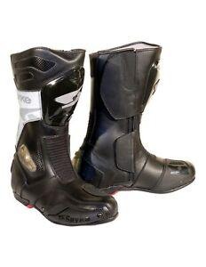 Spyke-Rocker-alle-seizoenen-mannen-waterdicht-racen-leer-motor-laarzen-zwart