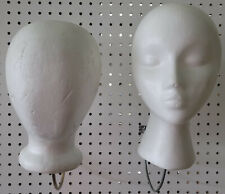 White Styrofoam Heads Female And Faceless Mannequin Wig Hat Display Lots Of 4