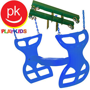 Playkids Swingset Glider Swing Glider Horse Glider Fully Coated