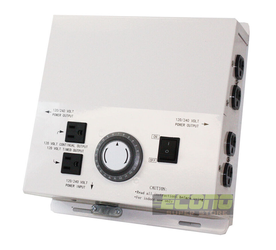 MLC HID Light Control Box 50 Amp 240V 8000 Watts w//8 Outlet /& 24hr Timer Hydropo