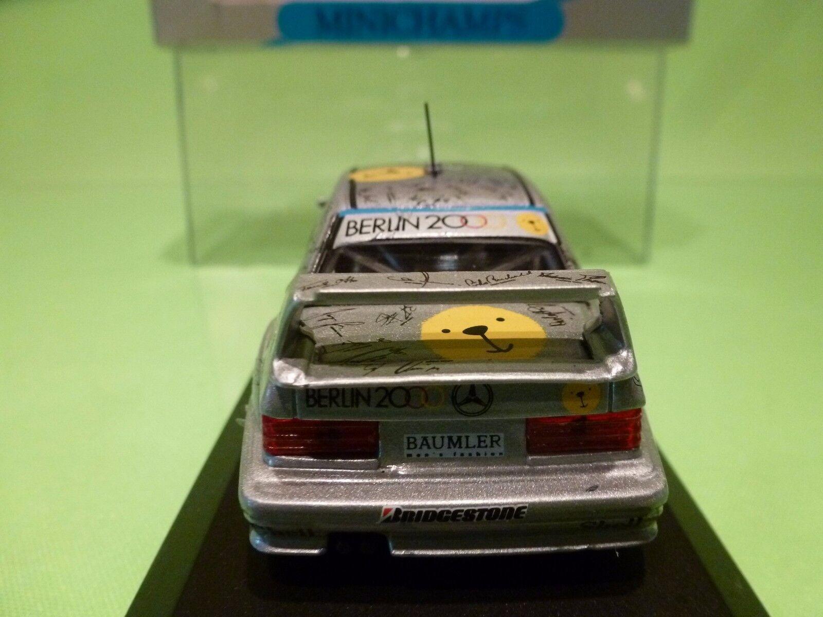 MINICHAMPS  MERCEDES BENZ 190E 190E 190E DTM 1992 - BERLIN 2000 - KEKE ROSBERG - 1 43 NMIB 956d65
