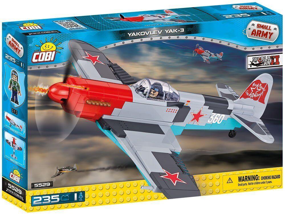 Spielzeug Ein sowjetisches Jagdflugzeug Yakovlev Yak-3  Bausteine konstruktion