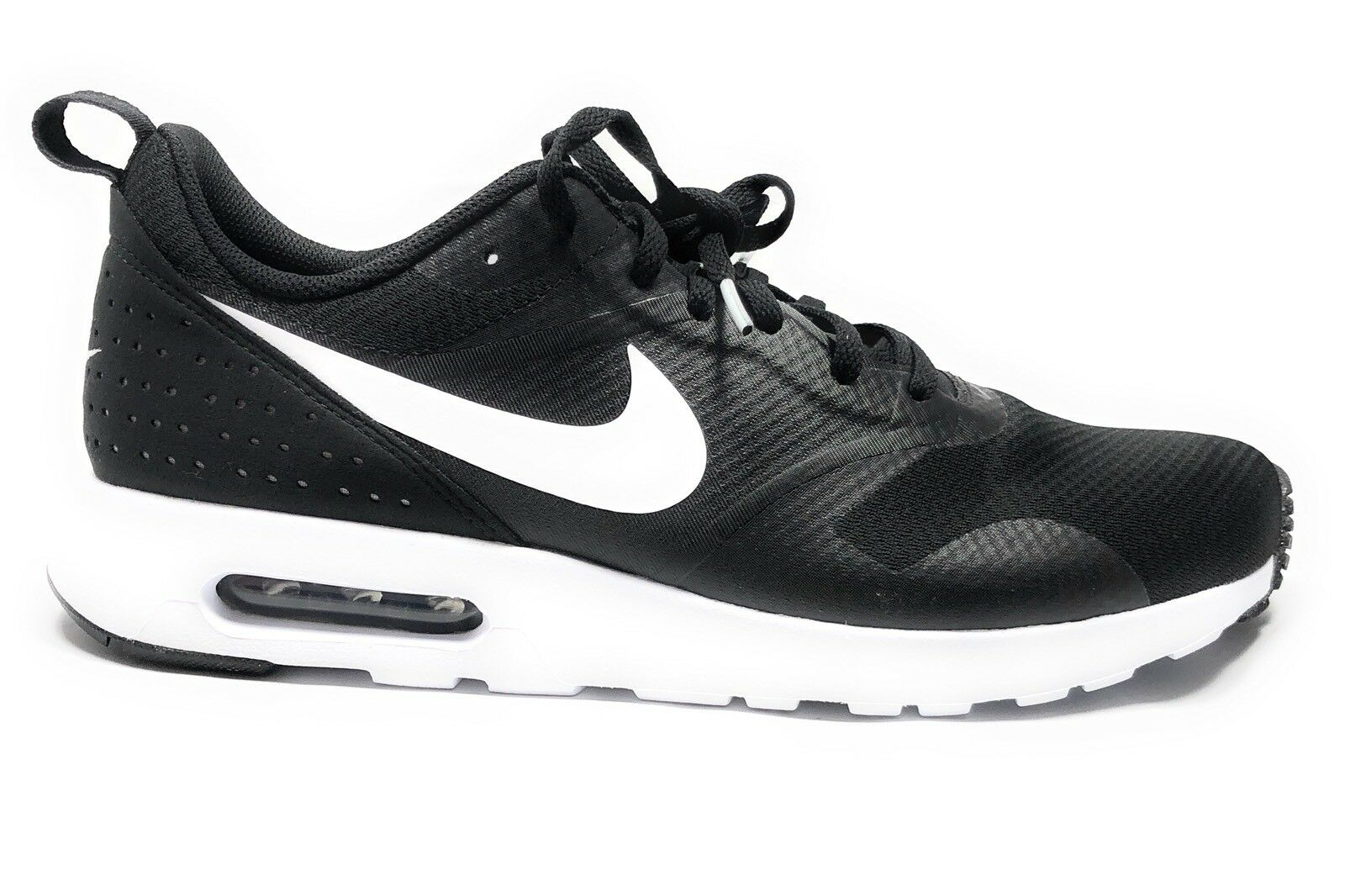 Men's NIKE Air Max Tavas RUNNING Shoes Size 11.5 Black / White (705149 009)
