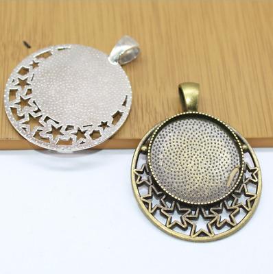 Bulk 5pcs  pendants charms photo-frame oval bezel blank brass base