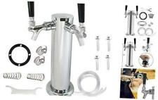 Draft Beer Tower Faucet Dispenser Brand Double Beer Tap Stainless Steel 3