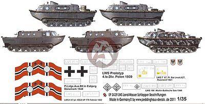 Peddinghaus 1/35 Landwasserschlepper LWS Amphibious Tractor WWII Markings 2439