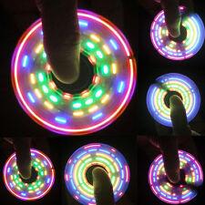 2017 Rainbow LED Light Change Hand Spinner Tri Fidget EDC Toy Focus ADHD Autism