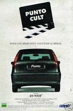 Publicité Advertising 1998 Fiat Punto Cult