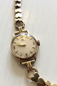 Image Is Loading Superb Ladies All Solid Gold Vintage Omega Watch
