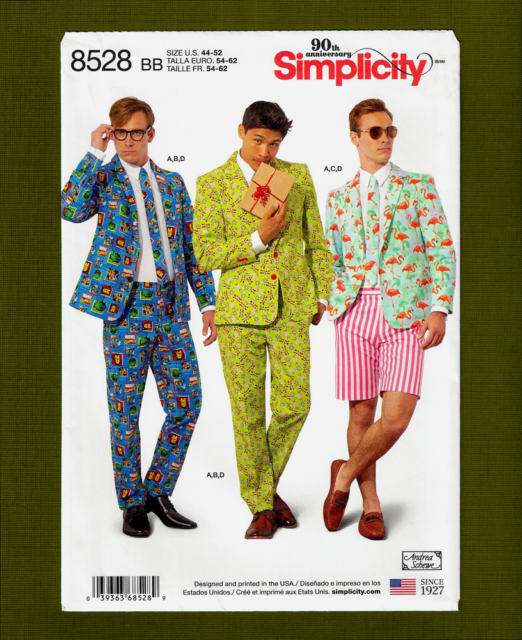 7658c8348c Buy Simplicity Pattern 8528 Mens Suit Costumes Sz 44-52 online