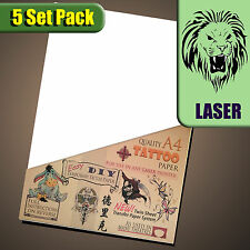 New (LASER)Temporary Tattoo Transfer Paper - Movie FX - Tattoos Waterproof 5set
