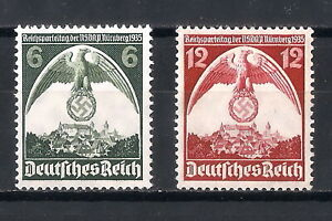 DR-Nazi-3rd-Reich-Rare-WW2-STAMP-NURENBERG-Congress-NSDAP-Party-Swastika-Eagle