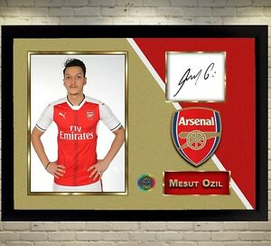 489de2fdd Image is loading Mesut-Ozil-Arsenal-signed-autographed-Football-photo-print-