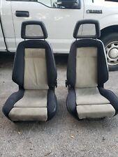 Recaro Vintage Racing Seats Blackgrey Fabric