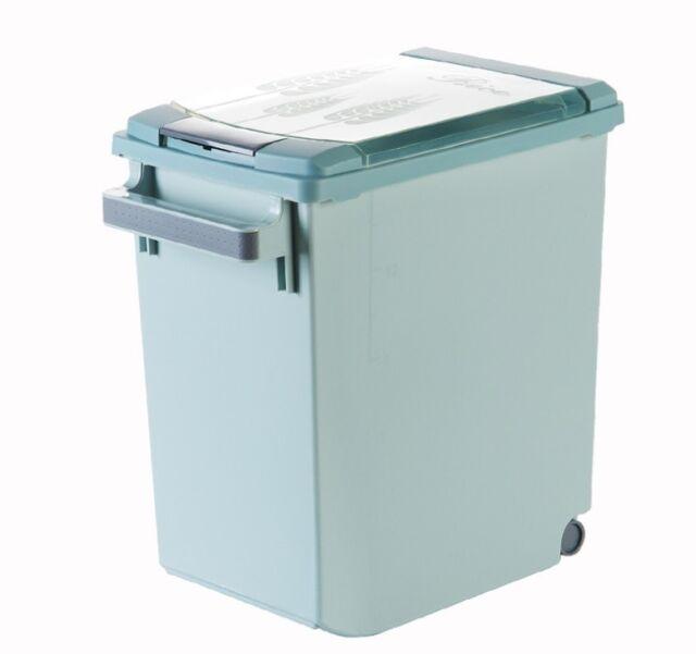 D74 15KG Kitchen Rice Storage Bin Flour Cereal Bean Grain Box Container Case Q