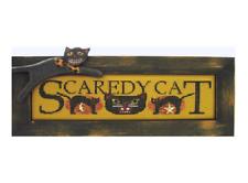 Hinzeit Cross Stitch Chart With 2 Charms Scaredy Cat Halloween