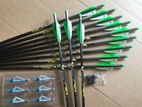 Pse Crossbow Bolts By Victory 24 Pack Carbon H/moon 20 Free Points