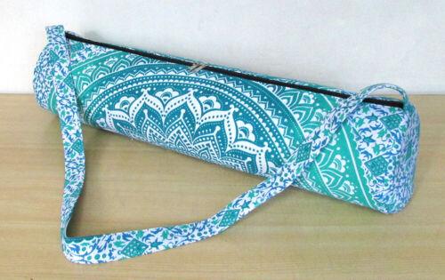 Mandala Large Ombre Yoga Mat Carry Bag Indian ExerciseGym Fitness Shoulder Strap