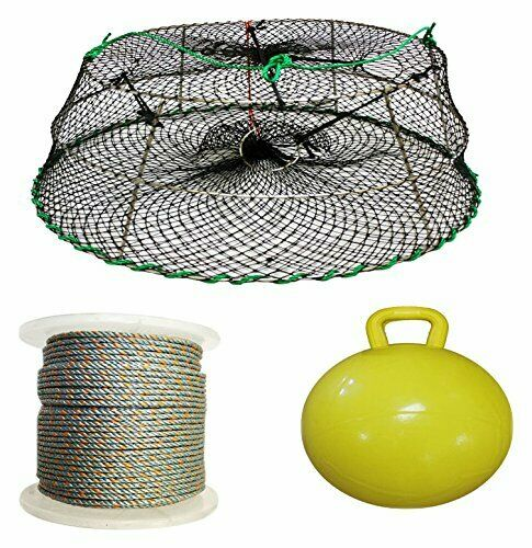 KUFA Sports Tower Style Prawn trap with 400' rope, float & Bait Jar(CT77+PAL5)