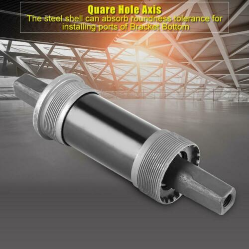 Bicycle Bottom Bracket Quare Hole Axis for Square Tapered Spindle Crank Durable