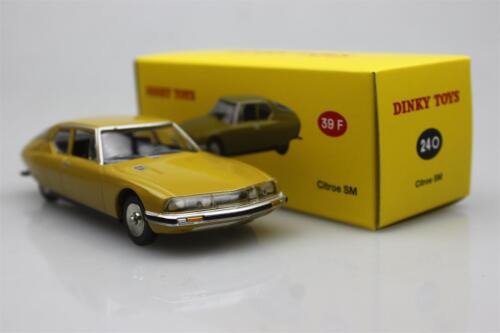 Atlas  Dinky toys 1:43 Citroen SM 1970 Alloy car model Gold 24 O