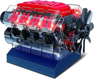 Playz-V8-Combustion-Engine-Model-Building-Kit-STEM-Hobby-Toy-for-Kids-amp-Adults-amp