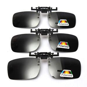 f9dce82b4d Polarized Light Flip-up Clip-on Lenses Black Sunglasses UV400 ...