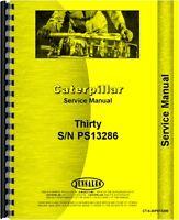 Caterpillar 30 Crawler Service Manual (sn Ps13286)