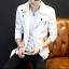 Mens Punk Motorcycle Chic Metal Decor  Slim Fit Short Jacket Fashion Zip