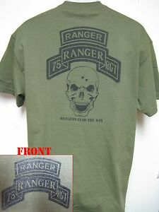 75th Ranger Rgt T Shirt Rangers Lead The Way Military