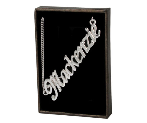 18K Gold PlatedWedding Unique Custom Made Designer Name Necklace Mackenzie