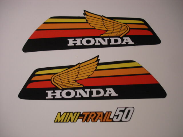 1978 Honda Z50 Gas Tank and Side Panel Decal Set AHRMA