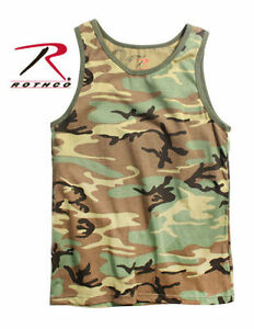 d3ba4e9074942 Mens Tank Top - Camouflage Woodland Camo by Rothco ARMY TANK TOP ...