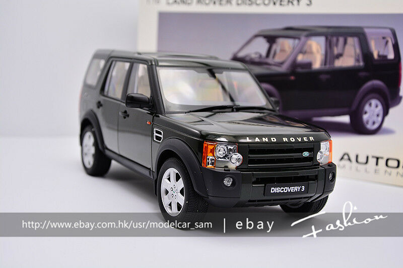 Autoart 1 18 Land Rover encontró 3 2005 Transparent Skylight Sport Utility Vehicle verde