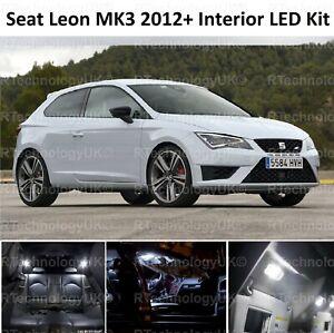 PREMIUM-SEAT-LEON-5F-MK3-2012-2018-WHITE-INTERIOR-LED-XENON-LIGHT-KIT-BULB-ST