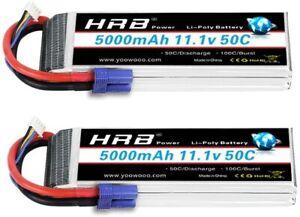 2pcs-HRB-3S-5000mAh-11-1V-LiPo-Battery-50C-EC5-for-Car-Truck-Buggy-Airplane