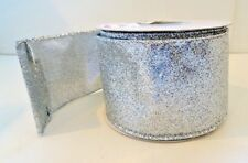 Steven Metallic Silver Crinkled Lame Ribbon by D