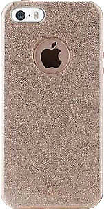 Puro PC + TPU Shine Glitter Cover iP 5/5s/SE Gold Puro IPC5SHINEGOLD