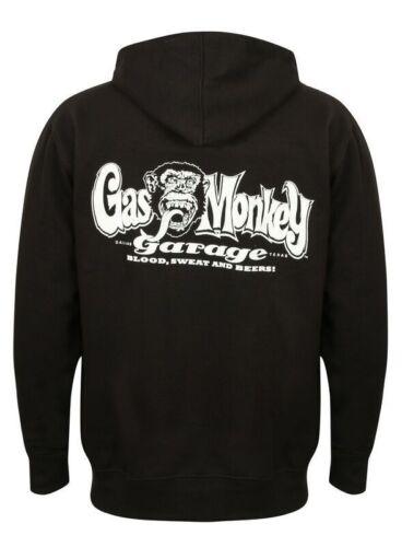 Gas cappuccio Logo Monkey Nero Og con nuovissimo ufficiale Felpa xRq717